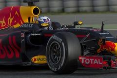 Kierowca Daniel Ricciardo Drużynowy Red Bull Ścigać się zdjęcie royalty free