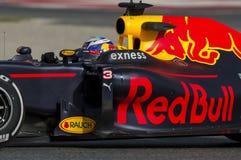 Kierowca Daniel Ricciardo Drużynowy Red Bull Ścigać się zdjęcie stock