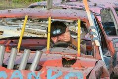 kierowca demolition Derby Obraz Stock