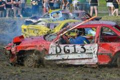 kierowca demolition Derby Zdjęcie Stock