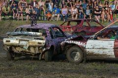 kierowca demolition Derby Fotografia Stock