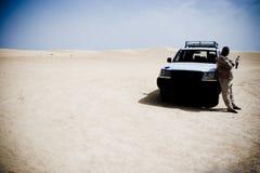 kierowca desert Zdjęcia Royalty Free