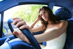 kierowca dosyć Fotografia Royalty Free
