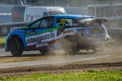 Kierowca Dubourg Barcelona FIA świat Rallycross Obrazy Royalty Free