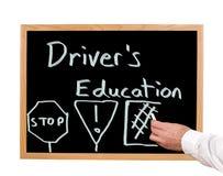 Kierowca edukacja Zdjęcia Royalty Free