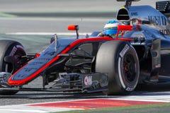 Kierowca Fernando Alonso mclaren drużyny Zdjęcie Royalty Free