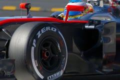 Kierowca Fernando Alonso mclaren drużyny Obrazy Stock