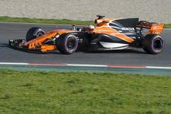 Kierowca Fernando Alonso mclaren drużyny Zdjęcia Stock