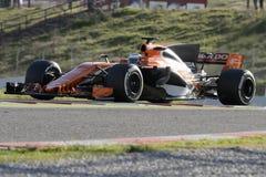 Kierowca Fernando Alonso mclaren drużyny Zdjęcia Royalty Free