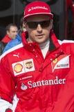 Kierowca Kimi Raikkonen Drużynowy Ferrari Obrazy Stock