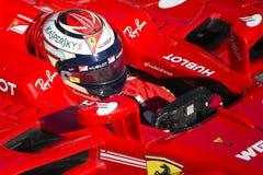 Kierowca Kimi Raikkonen Drużynowy Ferrari Fotografia Royalty Free