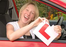 kierowca kobiety young Zdjęcia Royalty Free