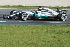 Kierowca Lewis Hamilton Drużynowy Mercedez Zdjęcie Royalty Free