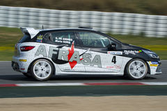 Kierowca Marta Suria clio Renault Obrazy Royalty Free