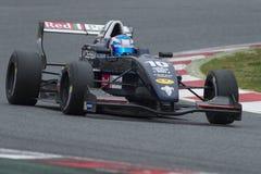 Kierowca Melina Nicolas Wyzwanie formuła zdjęcie royalty free