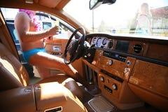 kierowca nago Zdjęcia Royalty Free