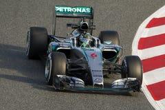Kierowca Nico Rosberg Drużynowy Mercedez Fotografia Stock