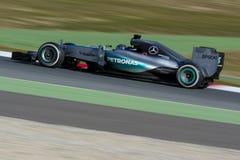 Kierowca Niko Rosberg Drużynowy Mercedez Zdjęcia Stock