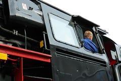 Kierowca parostatek lokomotywa obrazy stock