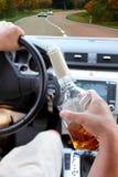 kierowca pijący Zdjęcie Royalty Free
