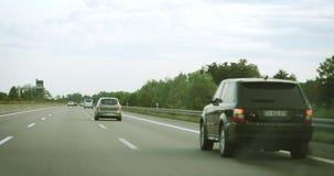 Kierowca pov na autobahn zbiory