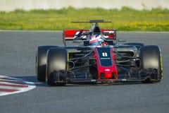 Kierowca Romain Grosjean Drużynowy Haas Zdjęcie Royalty Free