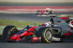 Kierowca Romain Grosjean Drużynowy Haas Obrazy Royalty Free