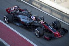 Kierowca Romain Grosjean Drużynowy Haas Obraz Stock
