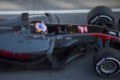 Kierowca Romain Grosjean Drużynowy Haas Zdjęcie Stock