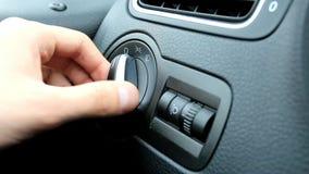 Kierowca samochód zawiera zamaczającego promień zdjęcie wideo