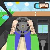 Kierowca samochodowy płaski projekt Zdjęcia Royalty Free