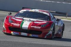 Kierowca SDANEWITSCH Ferrari 458 Italia GT3 2013 Zawody międzynarodowi GT OTWARTY obraz stock
