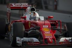 Kierowca Sebastian Vettel Drużynowy Ferrari Fotografia Royalty Free