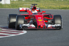 Kierowca Sebastian Vettel Drużynowy Ferrari Obrazy Stock