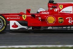 Kierowca Sebastian Vettel Drużynowy Ferrari Zdjęcia Royalty Free
