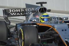Kierowca Sergio Perez Drużynowa siła India Zdjęcia Royalty Free