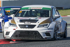 Kierowca Thibaut MOURGUES SEAT LEON EUROCUP Zawody międzynarodowi GT OTWARTY zdjęcie stock