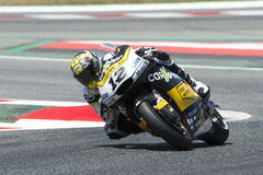 Kierowca Thomas Luthi CARXPERT drużyna Moto2 Potwór Energetyczny Uroczysty Catalonia Prix Zdjęcia Royalty Free