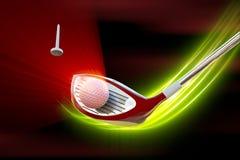 Kierowca uderza piłkę golfową ilustracja wektor