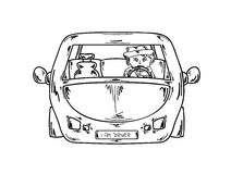 Kierowca w samochodzie Obrazy Stock