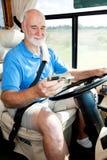 kierowcy gps starszy używać Fotografia Royalty Free
