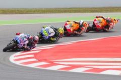 Kierowcy, Lorenzo, Rosja, Pedrosa, Marquez MotoGP fotografia stock