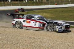Kierowcy MANUEL DA COSTA Mercedez sls amg gt3 Zawody międzynarodowi GT OTWARTY Zdjęcie Royalty Free