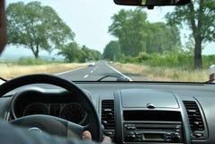 Kierowcy oka widok droga Obraz Stock