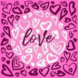 Kierowe atrament ilustracje, okrąg struktury serca, serc tła z glam skałą projektują royalty ilustracja