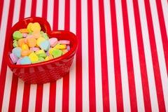 Kierowego cukierku naczynia Lewy Pasiasty Zdjęcie Stock