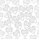 Kierowego kształta imbirowi ciastka z mrożeniem, mali serca dla St walentynki ` s dnia bezszwowego wzoru i ilustracji