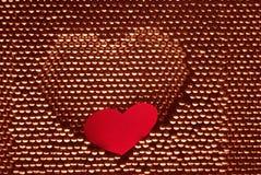 kierowego serca papieru czerwona kształta stal Obraz Royalty Free