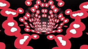 Kierowego wormhole leja lota pętli animacji tunelowego bezszwowego tła ilości rocznika nowy styl chłodno ładny piękny 4k ilustracja wektor