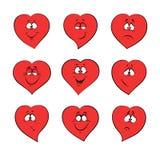 Kierowi emocj uczucia dla walentynki ` s dnia, poślubia Obrazy Stock